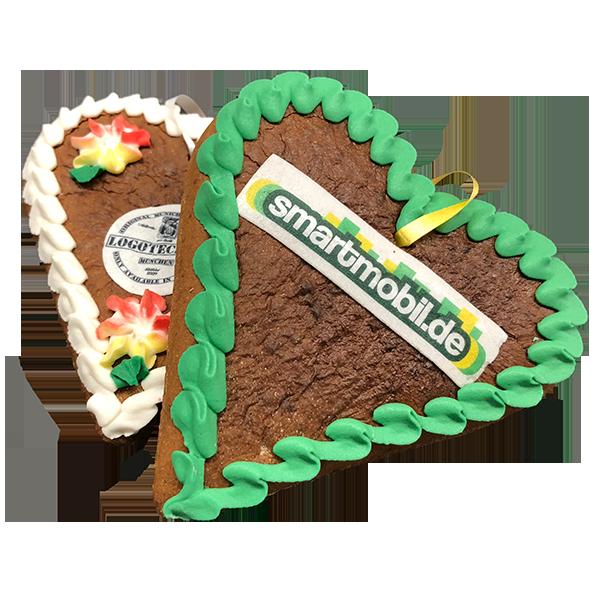 Lebkuchenherzen mit Logo